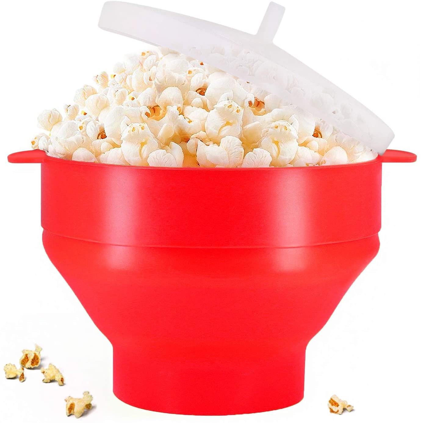 POP STAR - Silicone Popcorn Popper - Red