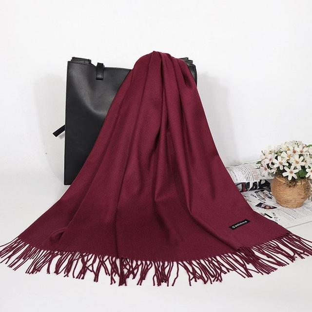 Pashmina Scarf - Red Wine