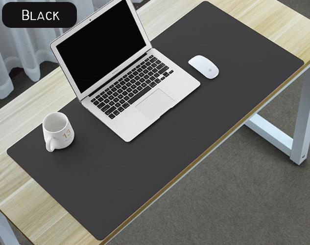 Waterproof PU Leather Desk Pad - Black