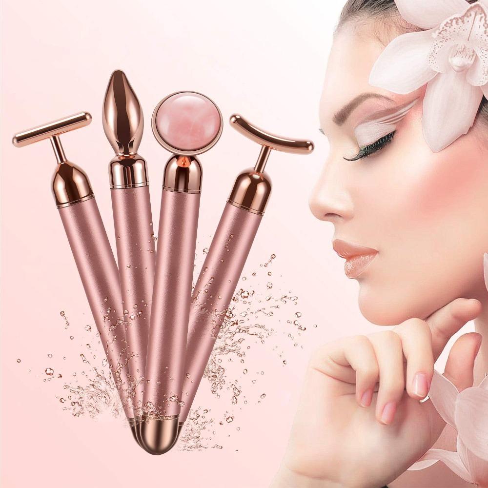 Beauty Bar 4N1 Rose Quartz Face Massager Kit